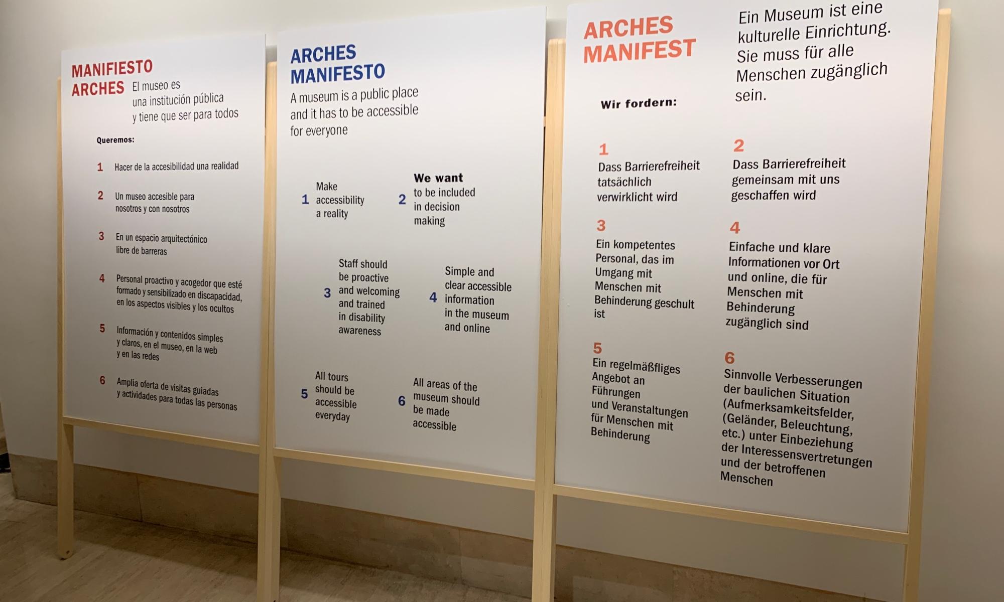 ARCHES MANIFESTO IN THREE LANGUAGES